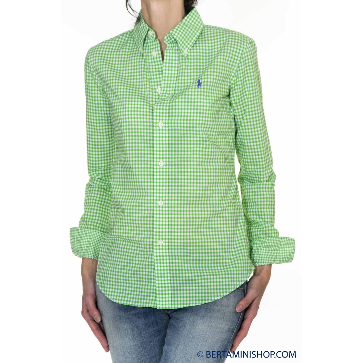 Camicia donna Ralph lauren - V33ih739vh739 cam quadro J3H01 - Verde