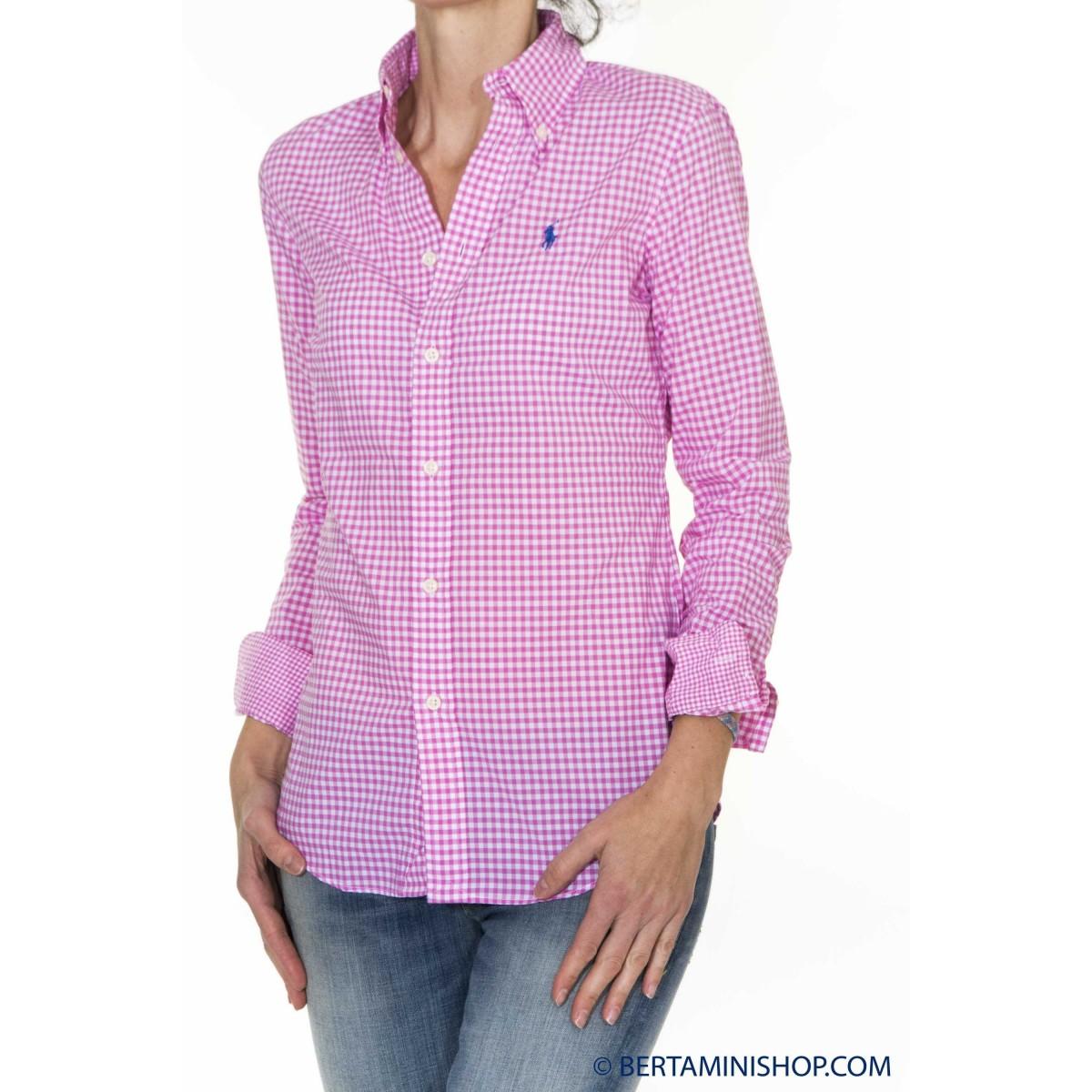 Camicia Donna Ralph Lauren - V33Ih739Vh739 Cam Quadro J6H01 - Fuxia