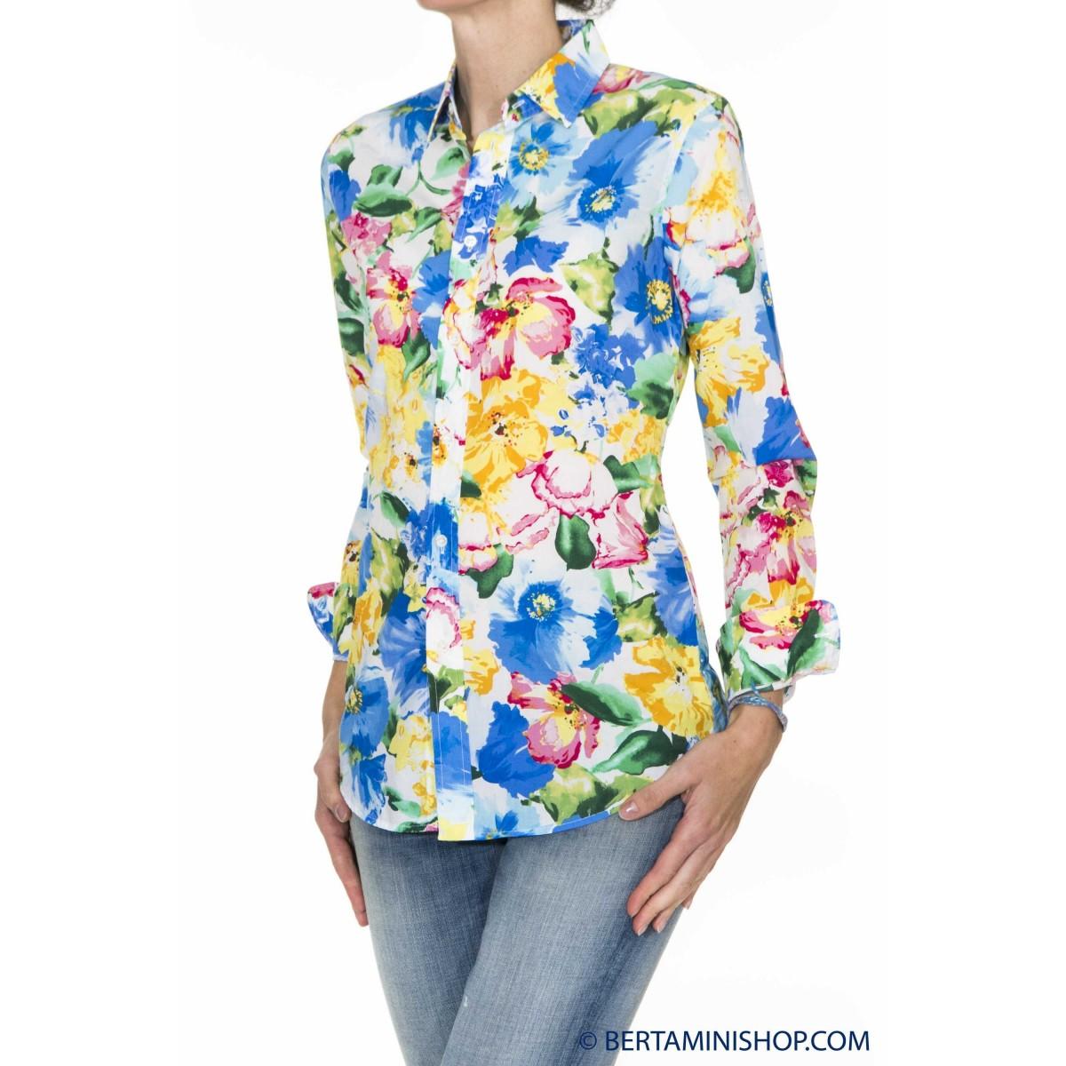 Camicia Ralph Lauren Donna - V33Ih723Bh723 M4H03 - Fiorata blu