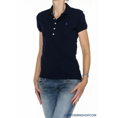 Polo Ralph Lauren Donna - V38Iojupb9415 Polo 5 Bottoni A4100 - blu
