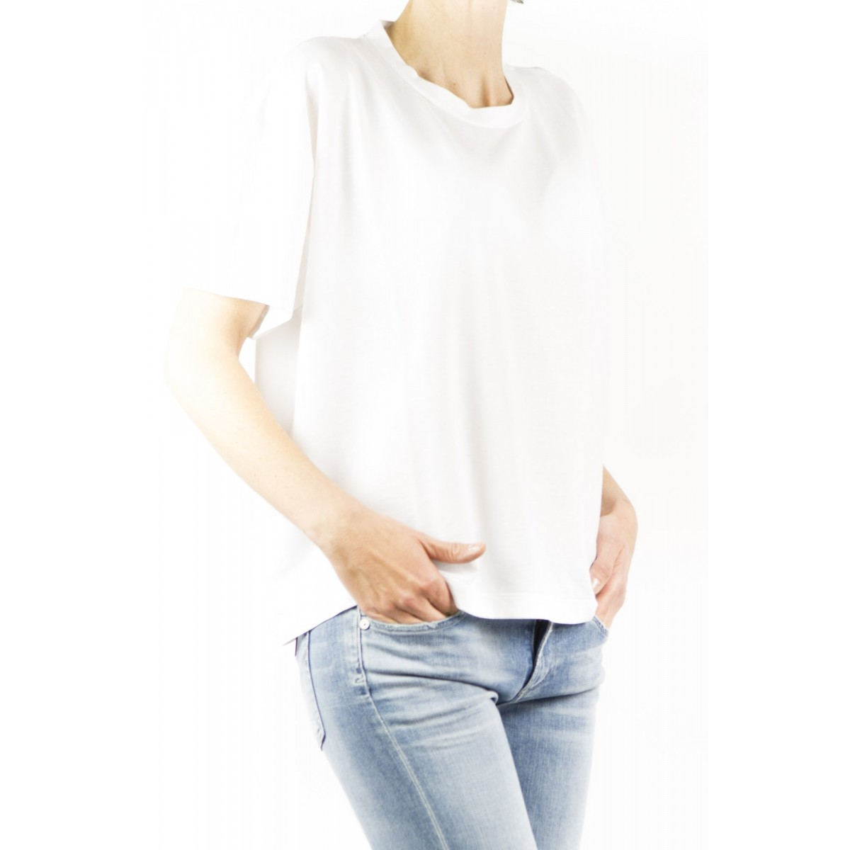 T-Shirt Zanone Woman - 8517123 Z0480 T-Shirt Over Ice Cotton Z0001 - bianco