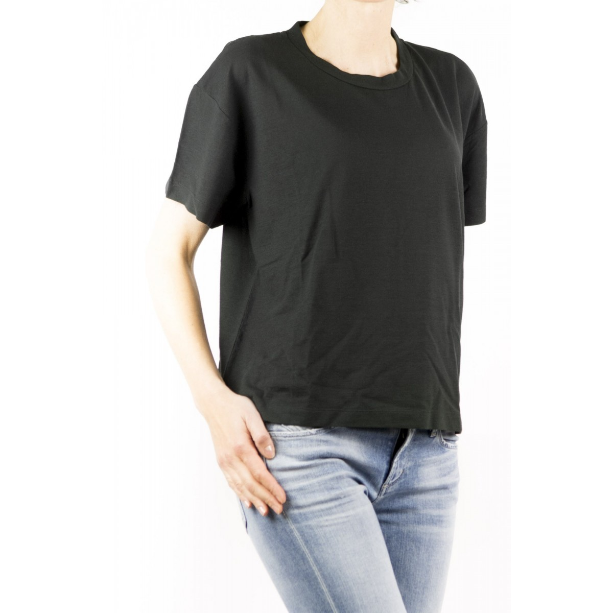 T-Shirt Zanone Woman - 8517123 Z0480 T-Shirt Over Ice Cotton Z0015 - nero