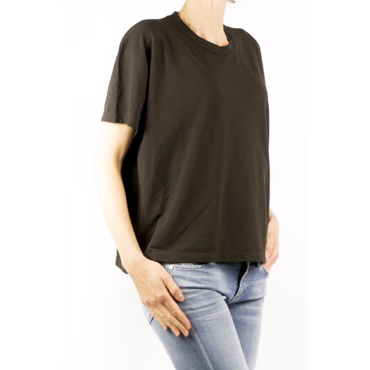 T-Shirt Zanone Woman - 8517123 Z0480 T-Shirt Over Ice Cotton Z1094 - marrone