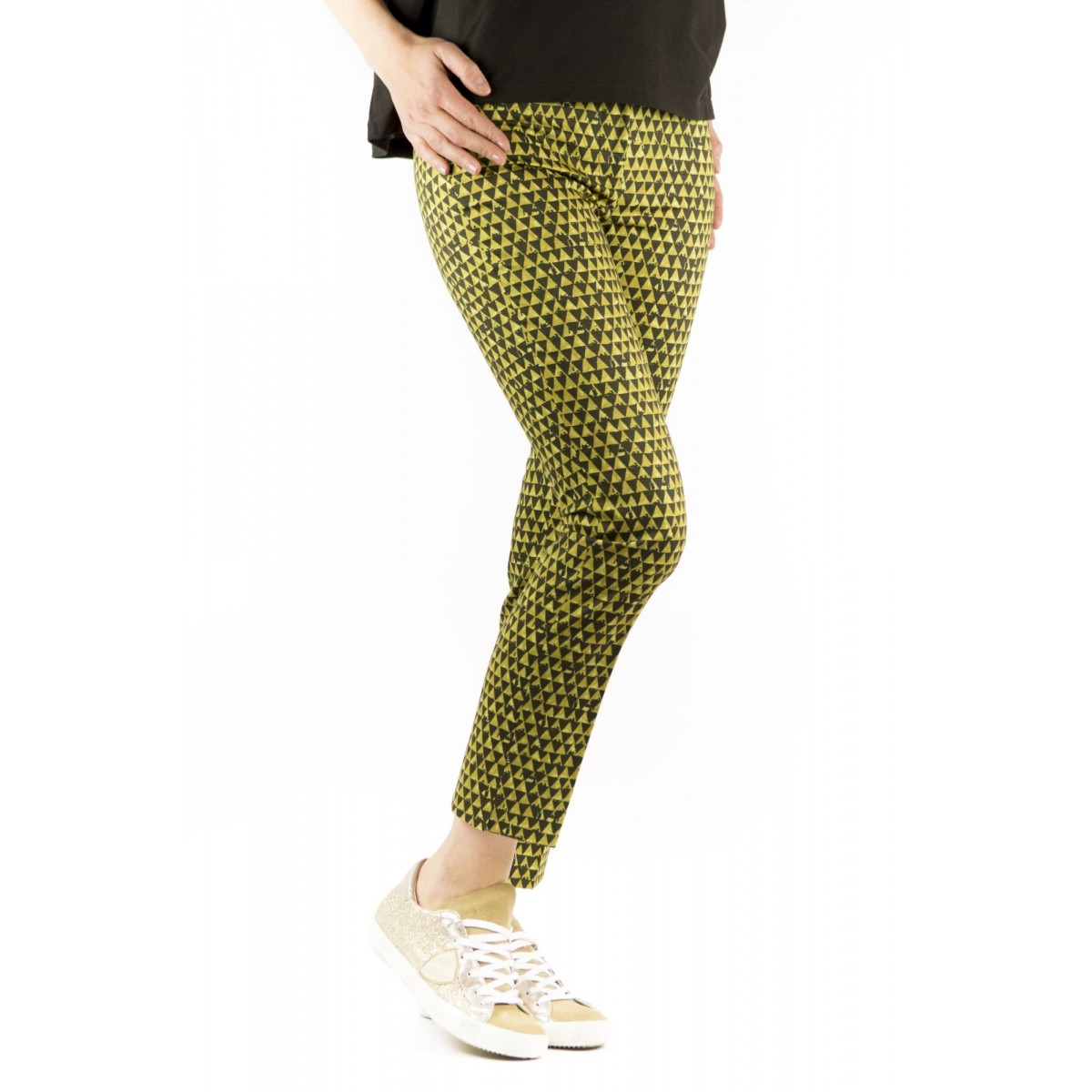 Trousers Incotex Woman - 171522 Debora D6190 Pant Fantasia Geometrica