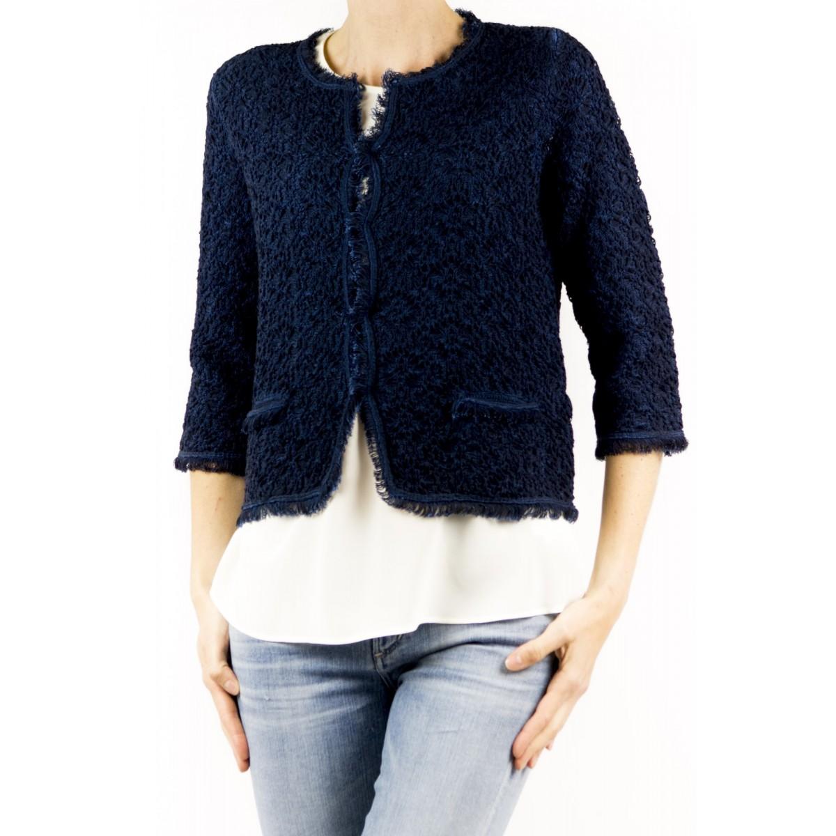 Jacket Kangra Frauen - 8710/58 Chanel Lavorata 48 - blu navy