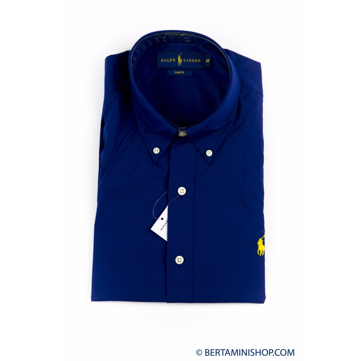 Hemd Ralph Lauren Manner - A04Wersmc0109 Popeline Slim B4919 - blu