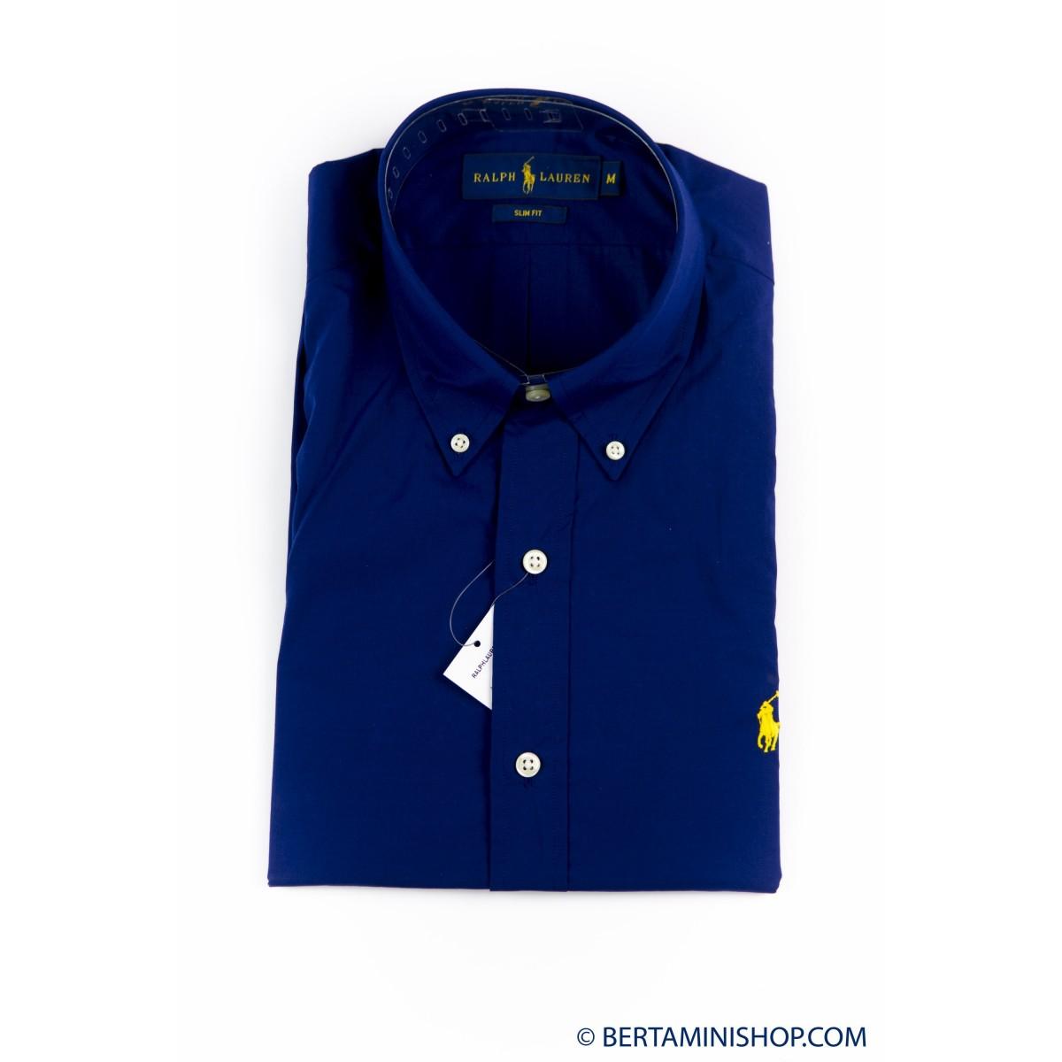 Shirt Ralph Lauren Man - A04Wersmc0109 Popeline Slim B4919 - blu