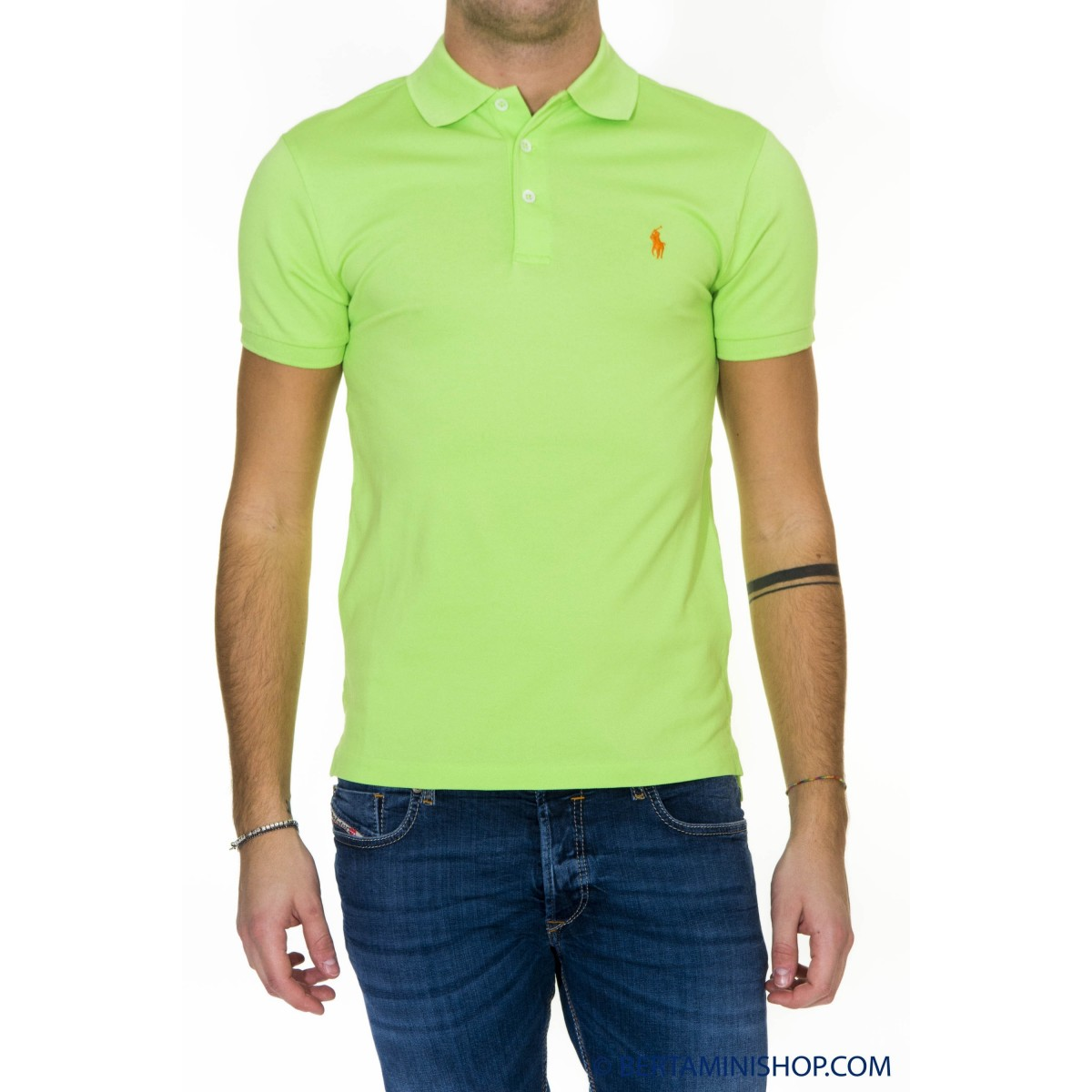 Polo Ralph Lauren Manner - A12Kjo24Btndr A3FLR - Verde acido