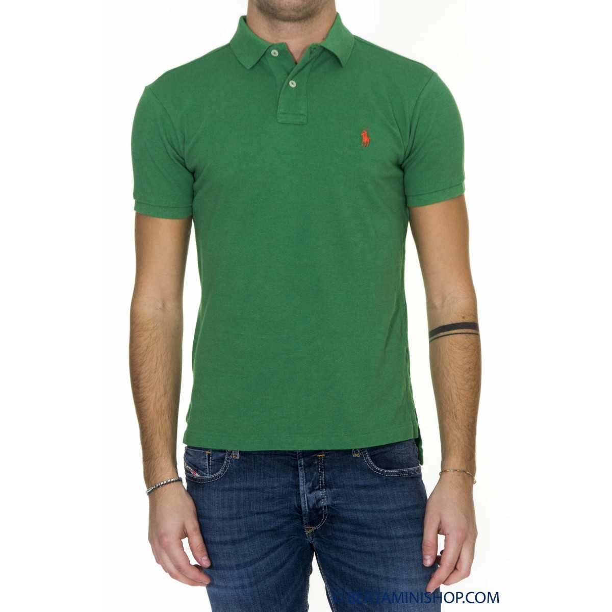 Polo Ralph Lauren Manner - A12Ks01Cc0004 A33NG - Verde melange