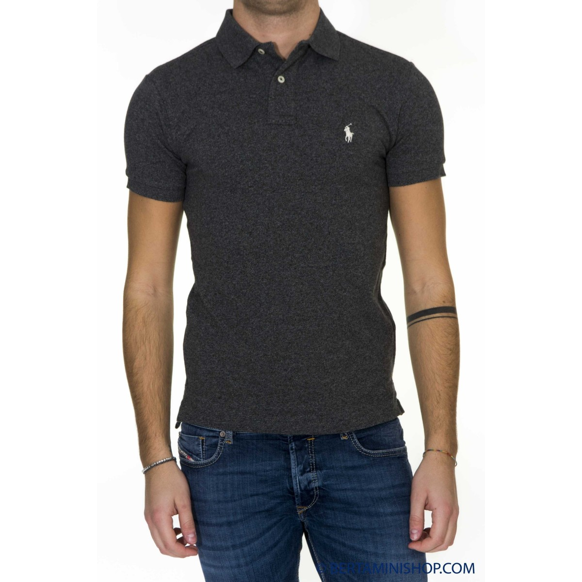 Polo Ralph Lauren Uomo - A12KAA10C8312 Slim Fit A0Z02 - Antracite melange