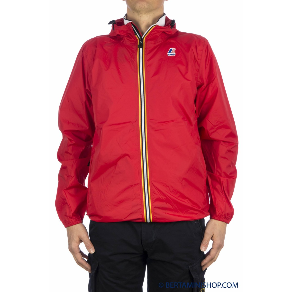 Leicht Sportsjacket K-Way Manner - Le Vrai 3.0 Claude K004Bd0 Over K08 - Red