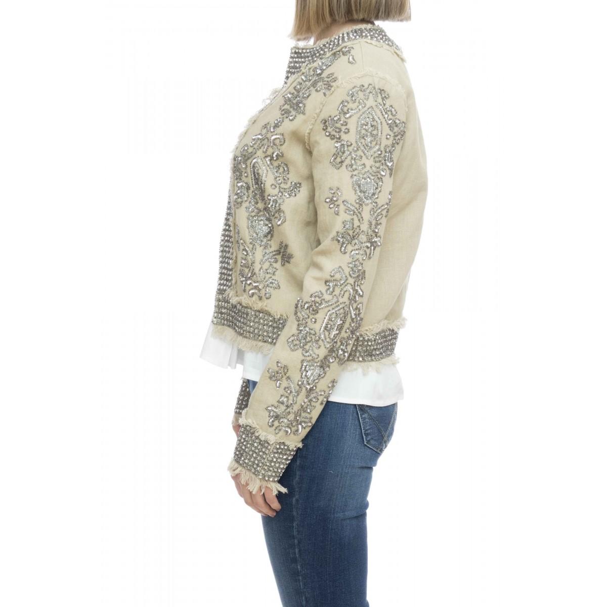 Giacca donna - 2060 giacca cotone con applicazioni