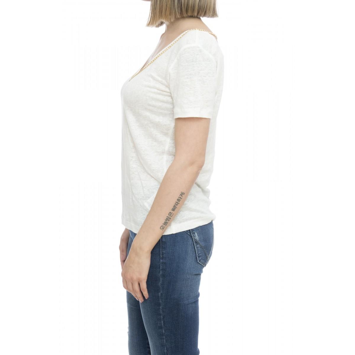 T-shirt donna - Efeso t-shirt con applicazione gioiello