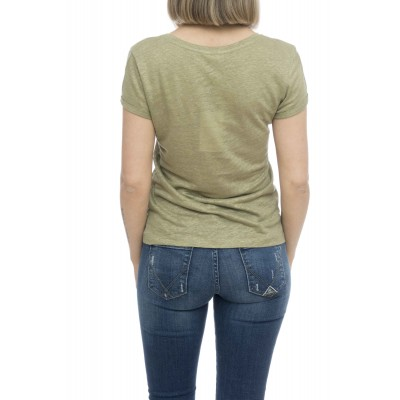 T-shirt donna - Vasamy t-shirt lino fiammato