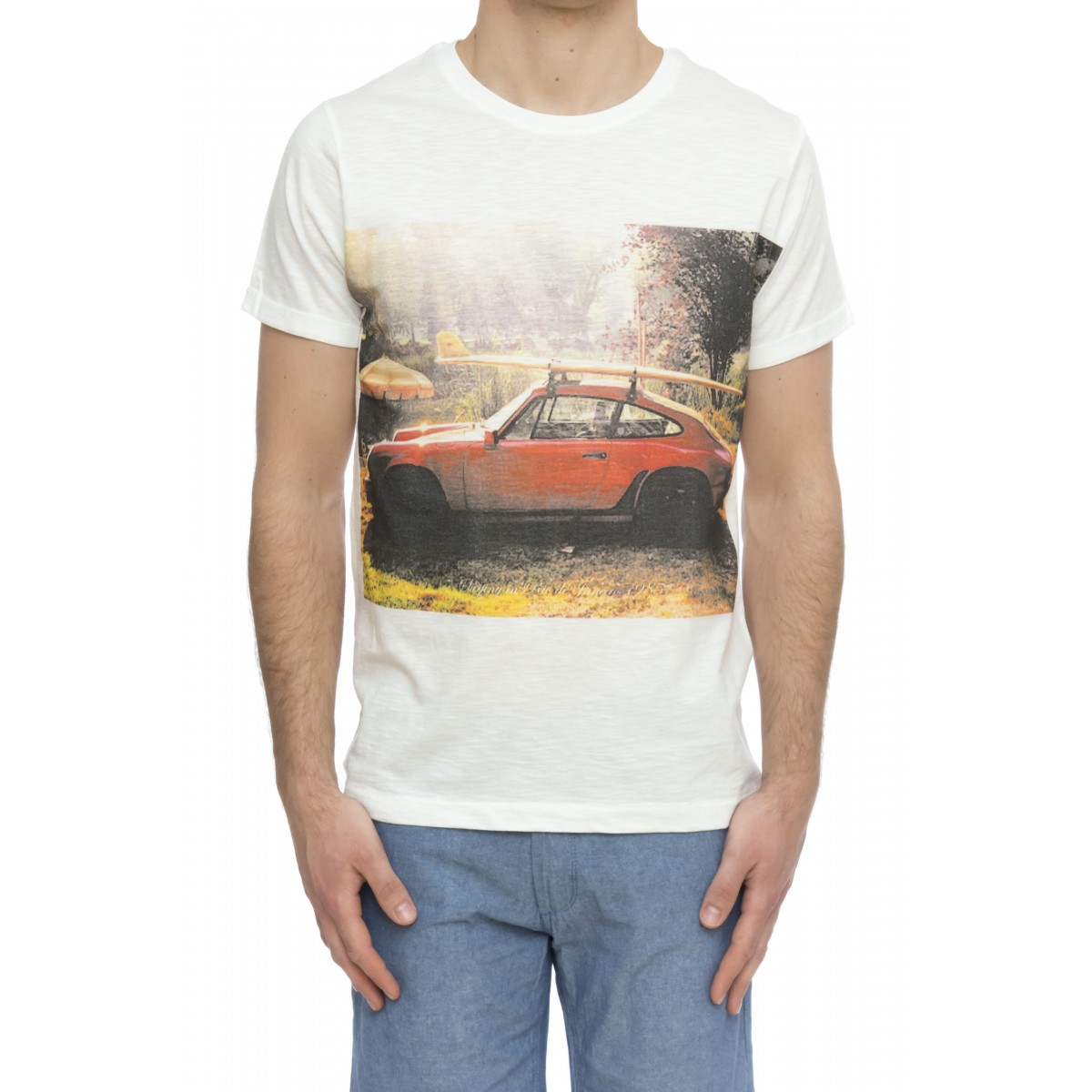 T-shirt - Slub stampa uomo