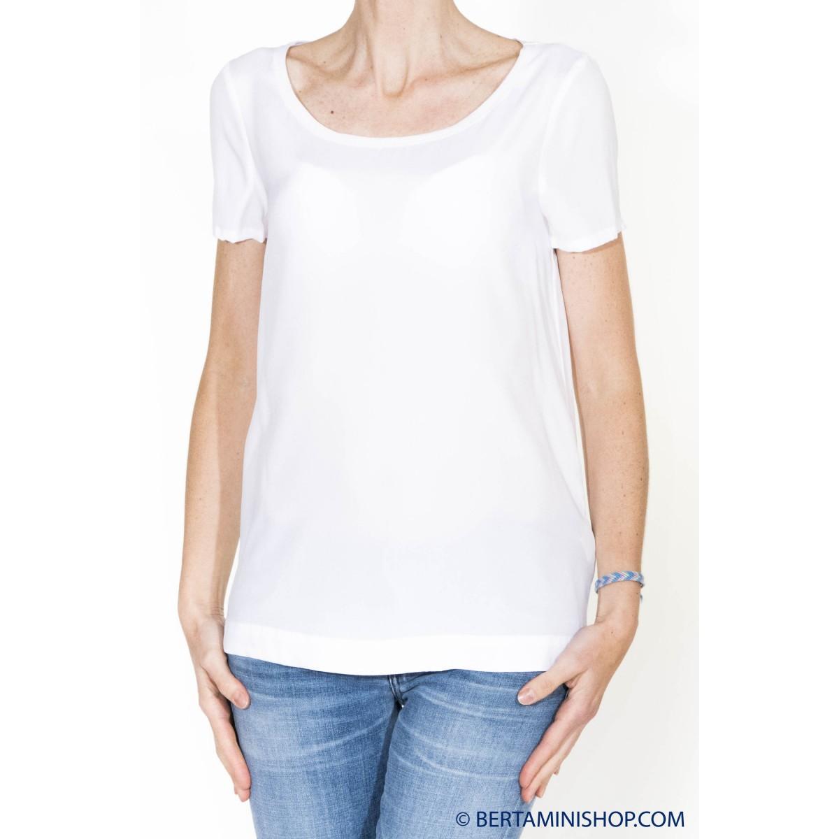 T-shirt donna Jucca - 2105o t-shirt seta opaca