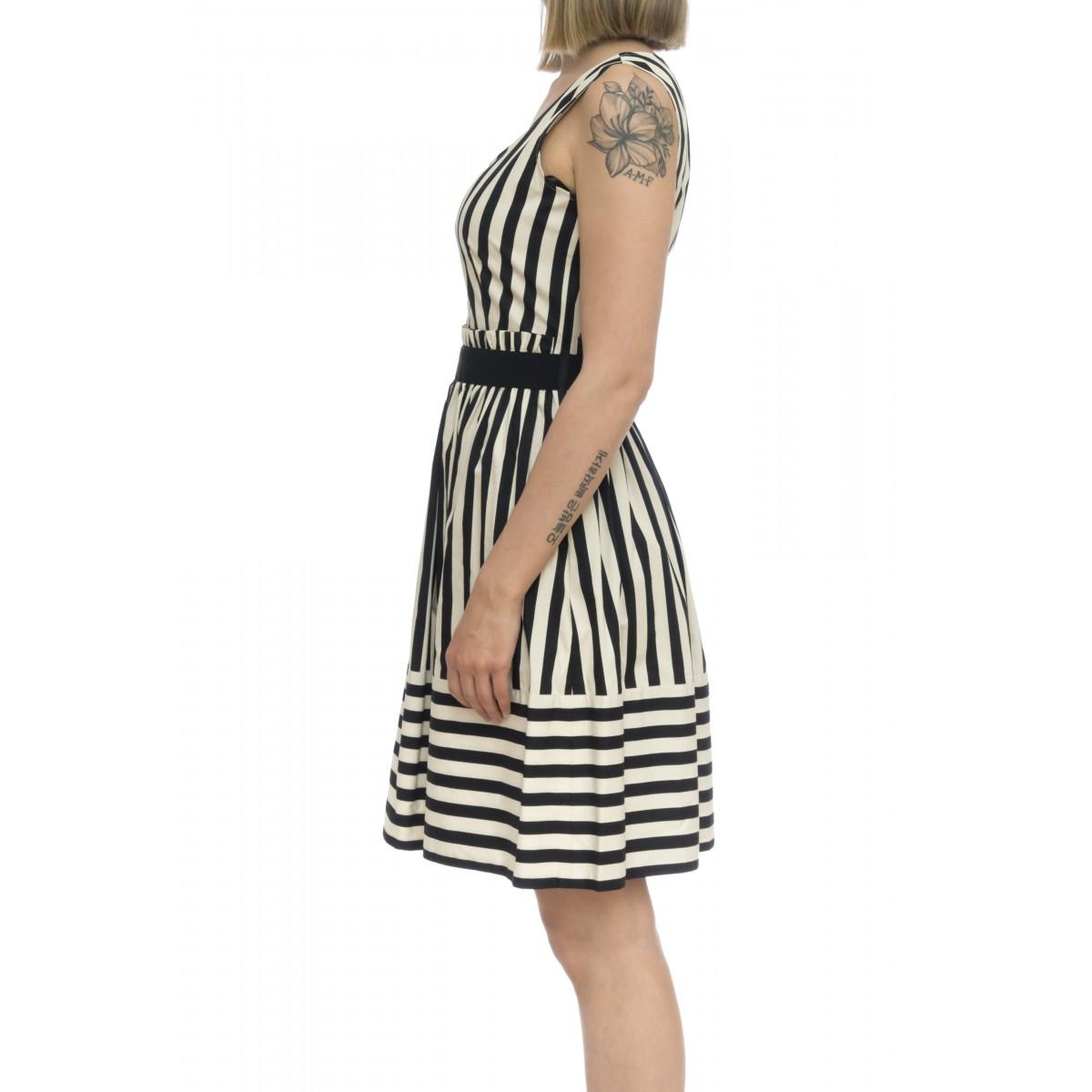 Vestito - 2281 vestito rigato cotone