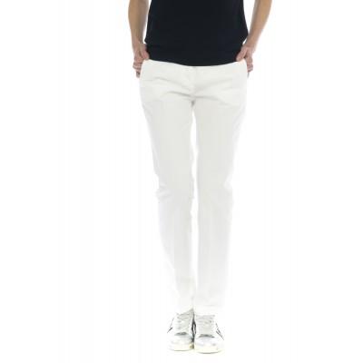 Pantalone donna - 175703 d6206 leyre gabardina lavata slim