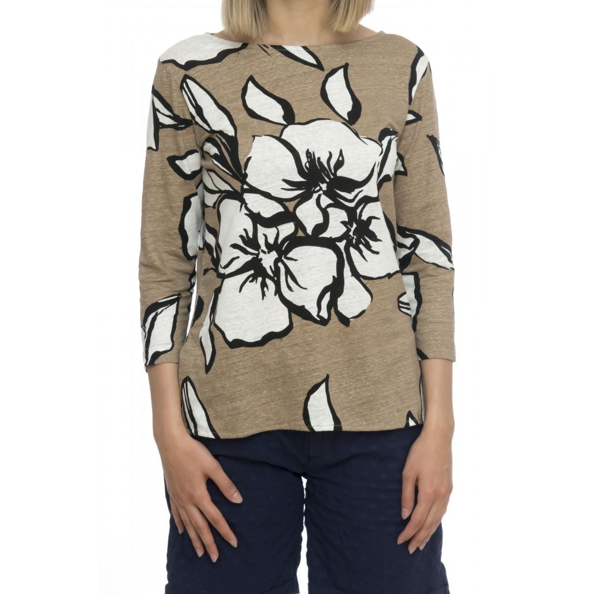 T-shirt donna - J069 fts111 t-shirt manica 3-4 fantasia fiori