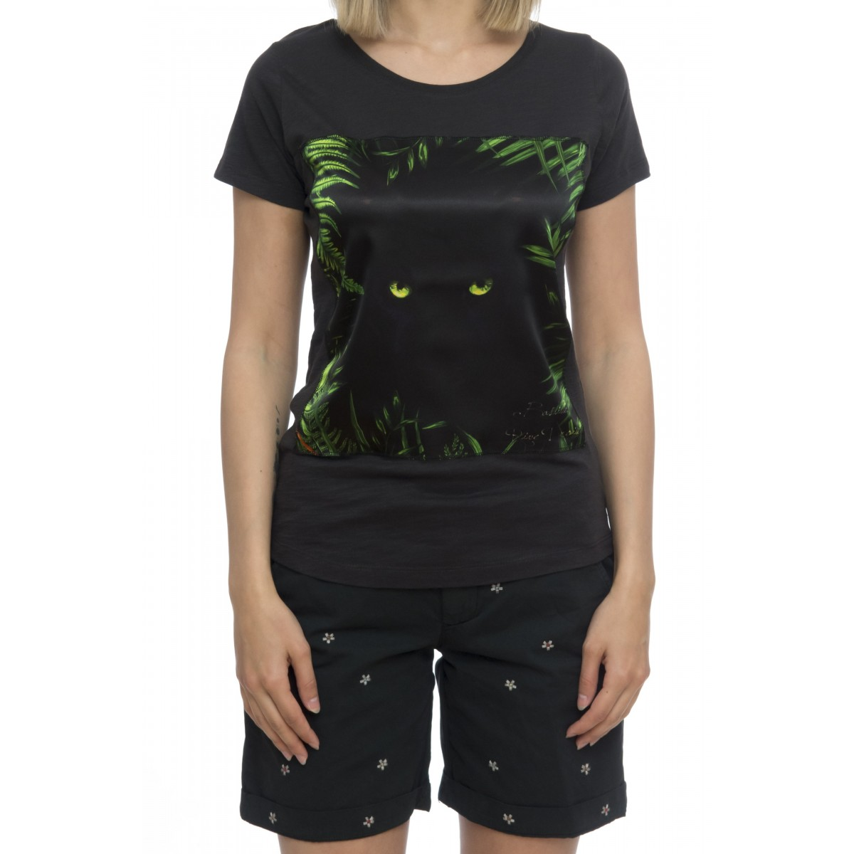 T-shirt donna - Savage seta black