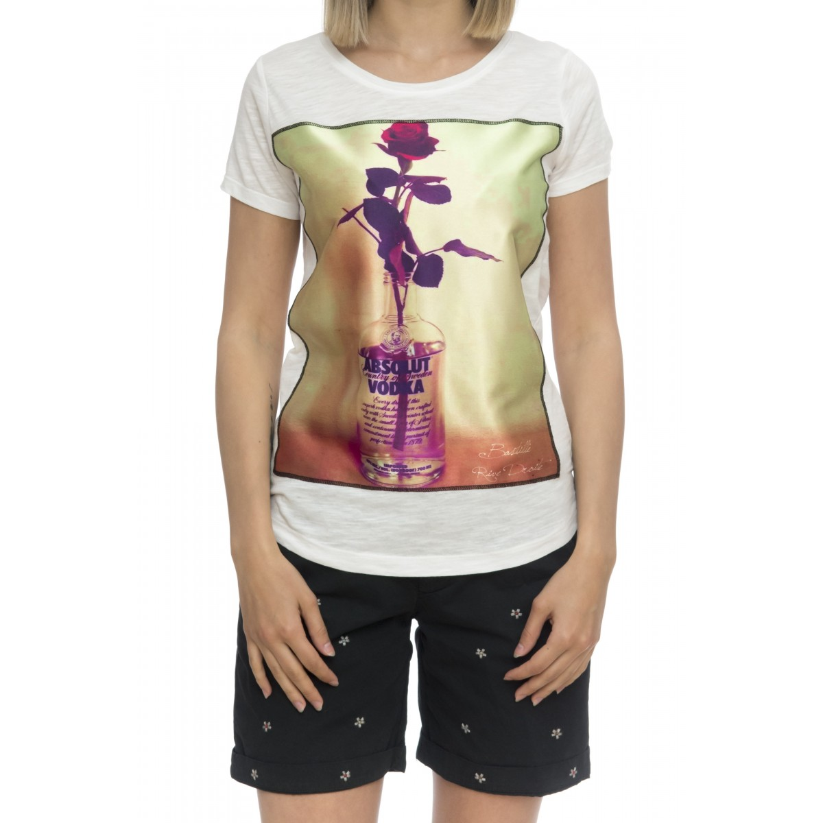 T-shirt donna - Savage seta white