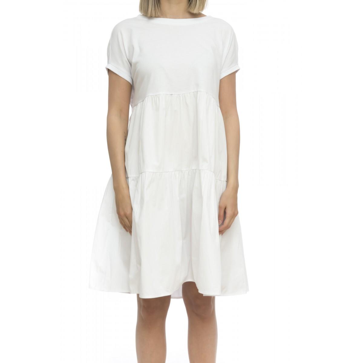 Vestito - T19216 vestito maglina piu tela