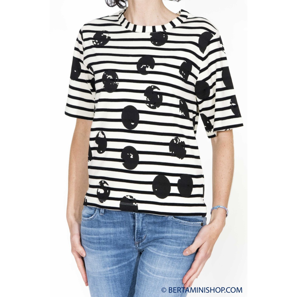 T-shirt donna Erika cavallini - semicouture - 111 t-shirt mc