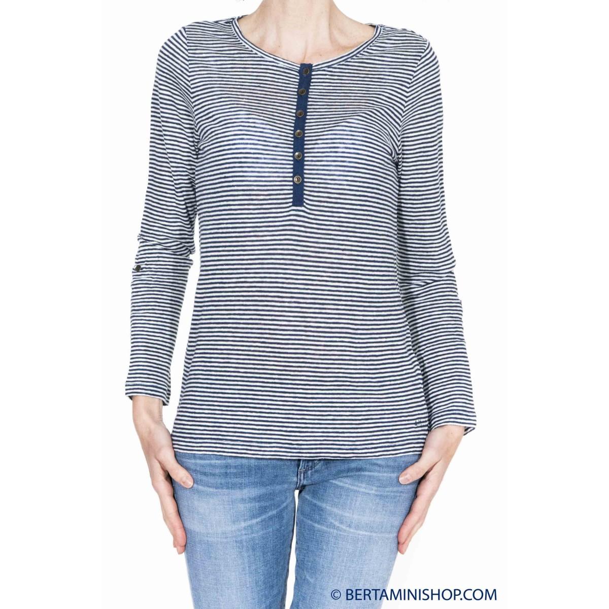 T shirt manica lunga Sun 68 - 16231 serafino lino cotone