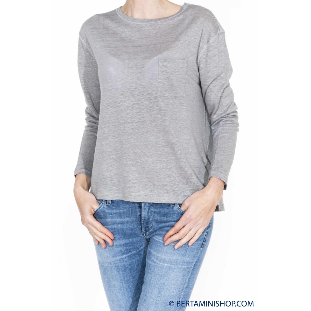 T shirt manica lunga Sun 68 - 16225 t-shirt manica lunga cotone lino
