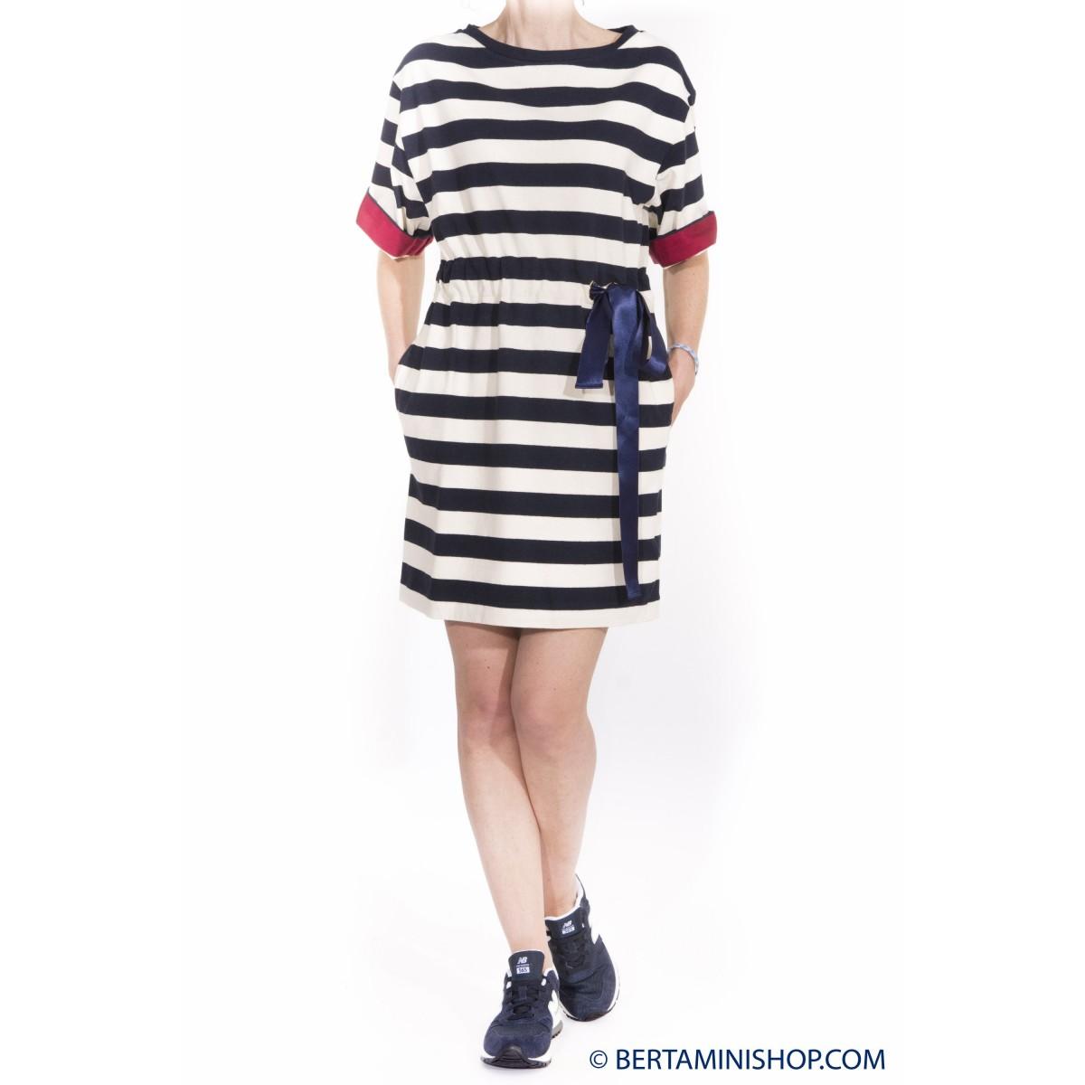 Vestito corto donna Jucca - 7026 vestito riga