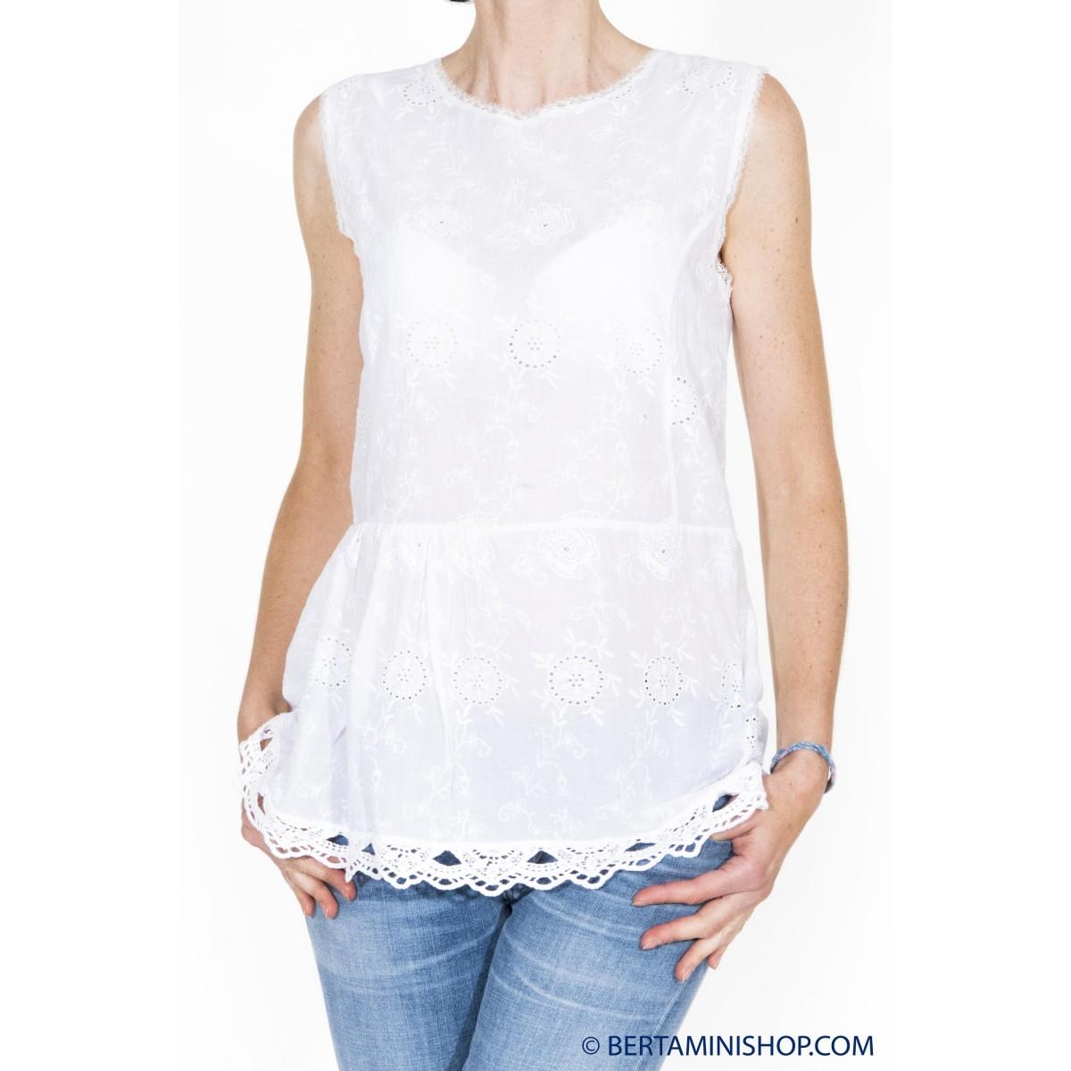 Camicia senza manica donna Jucca - 2031 camicia senza manica