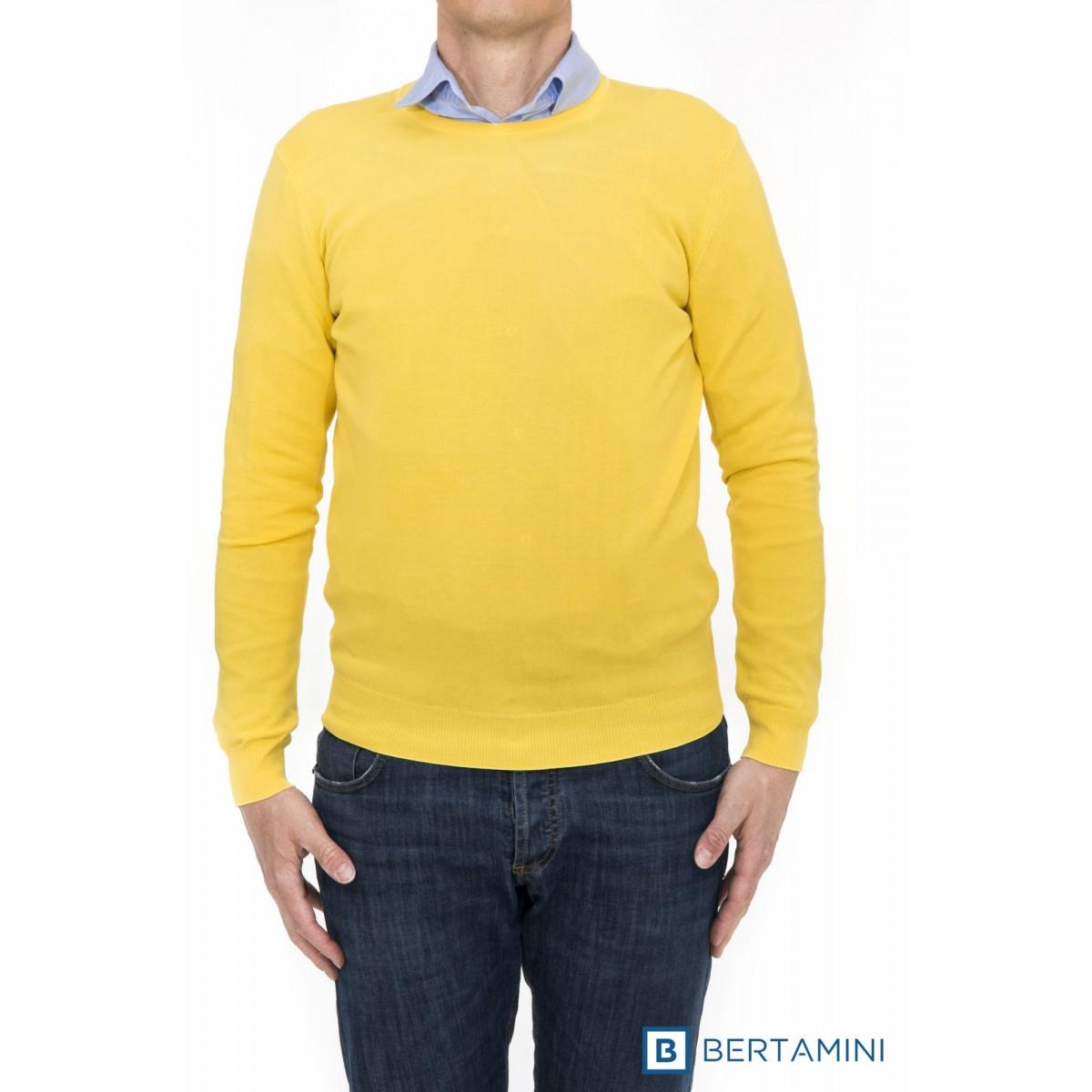 Maglia uomo Kangra - 1010/0101 maglia giro toppa in contrasto