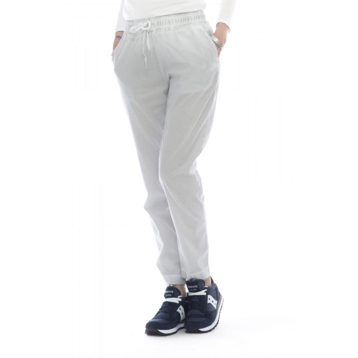 Pantalone donna - 5101/01f pantalone popline strech lavato freddo