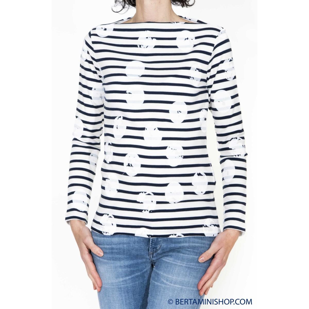 T-shirt donna Erika cavallini - semicouture - 110 t-shirt manica lunga