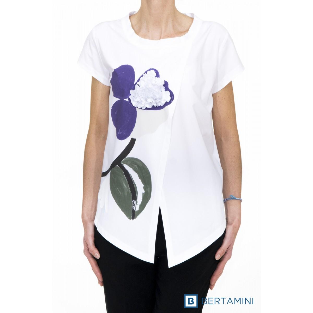 Camicia donna Erika cavallini - semicouture - 042 camicia con fiore
