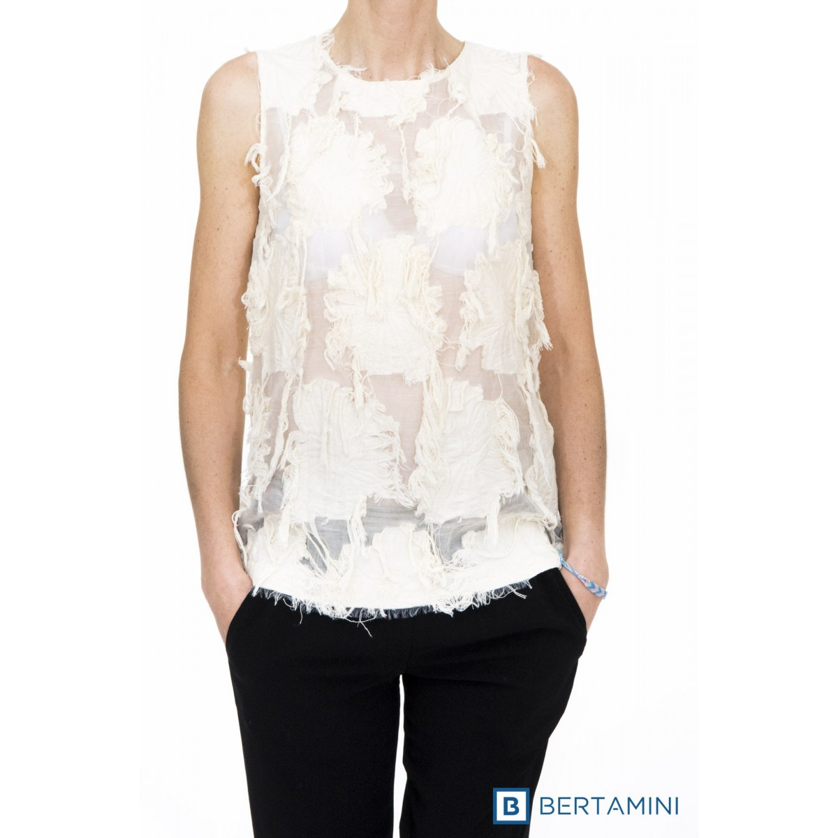 Top Erika cavallini - semicouture - 048 top pizzo