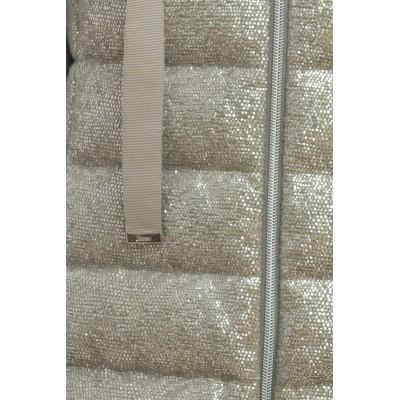 Down Jaclet - PI036DR13205 silvery cotton polyamide