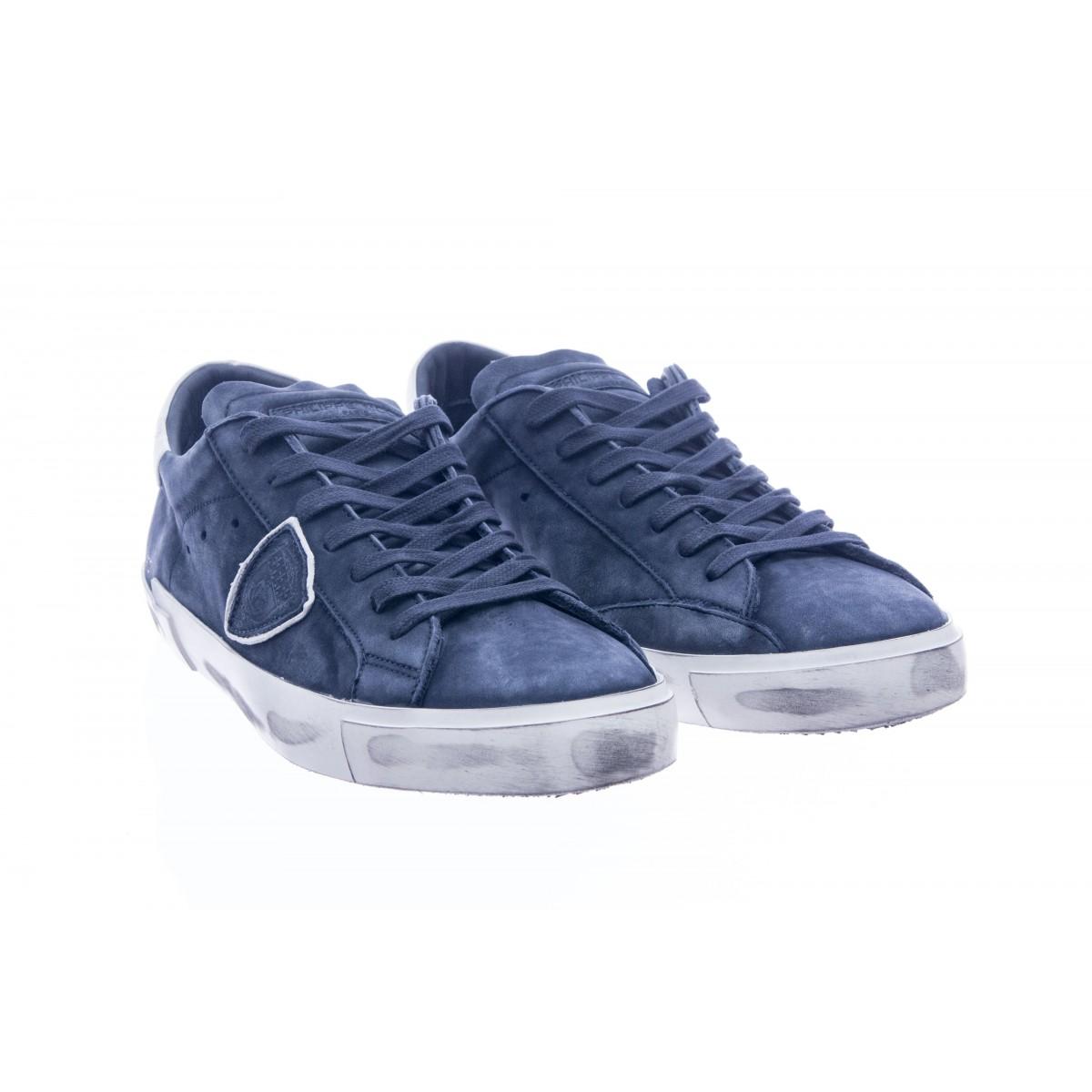 Scarpe - Prlu blu nabuk lavato