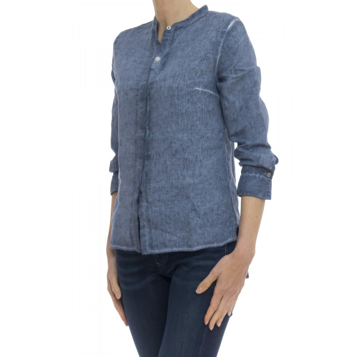 Camicia donna - 1103/03f camicia lino lavata freddo
