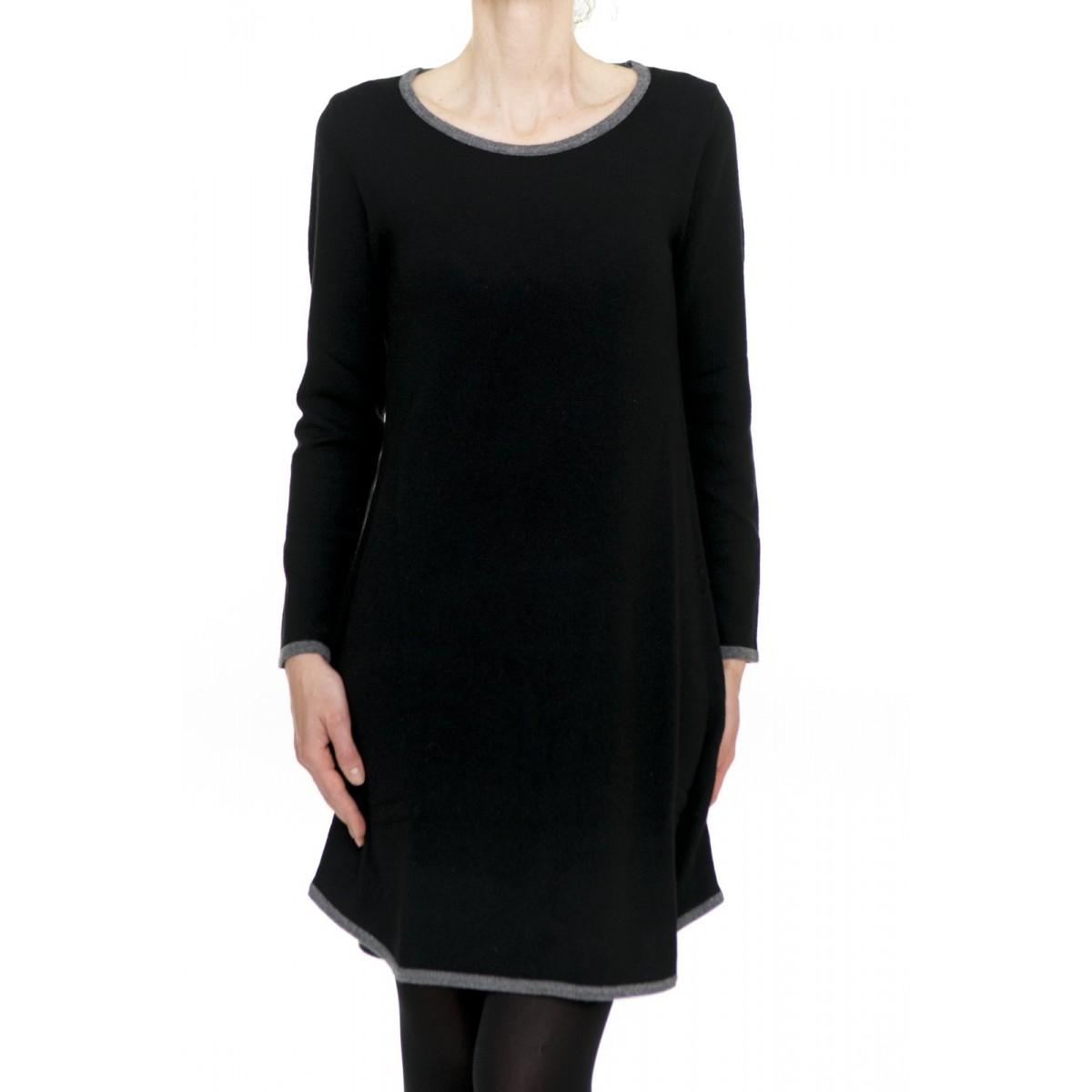 Vestito corto donna Kangra - 2520/12 abito bordo contrasto