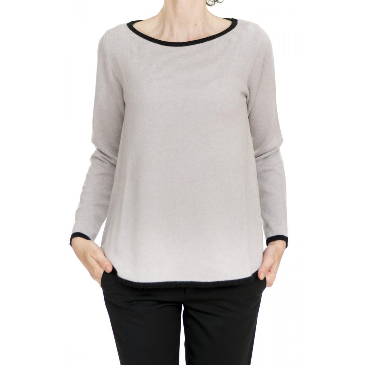Maglia donna Kangra - 2520/13 maglia bordo contrasto