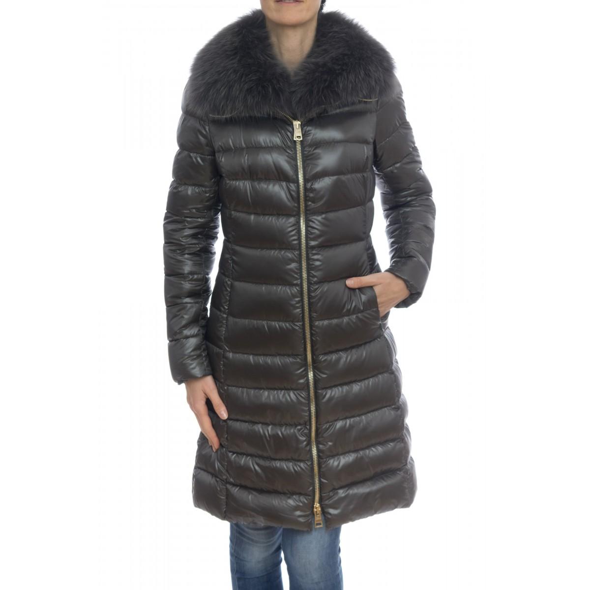 Piumino - PI0650DIC 12017 elisa 3 piume cappottino + pelliccia volpe