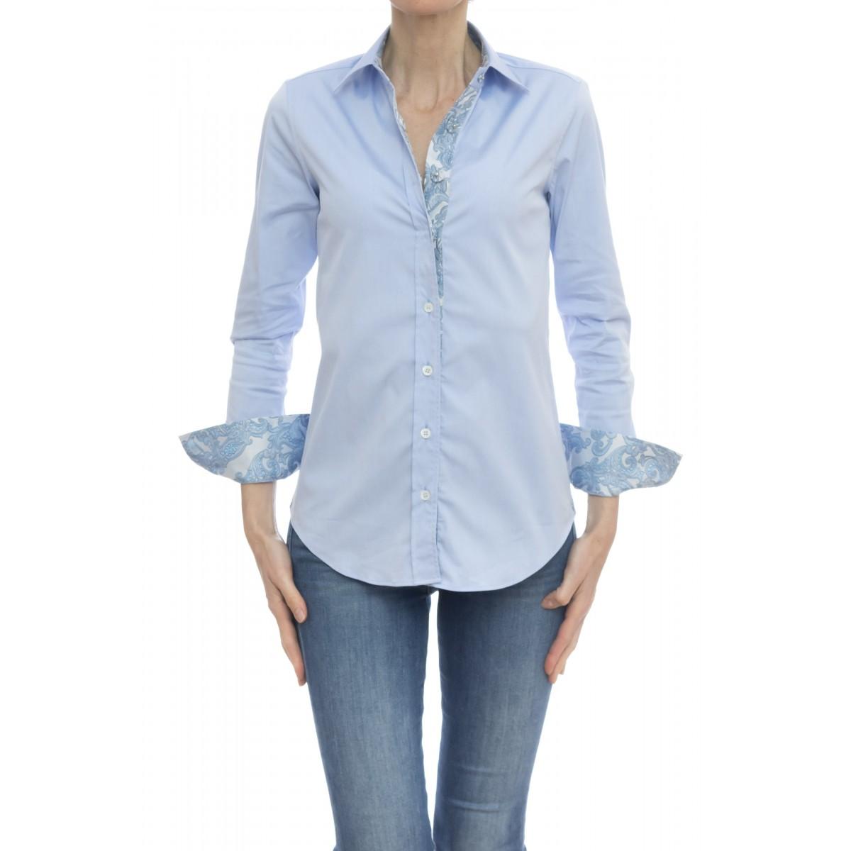 Camicia donna - Pj9 d43 camicia sfiancata bottone pressione
