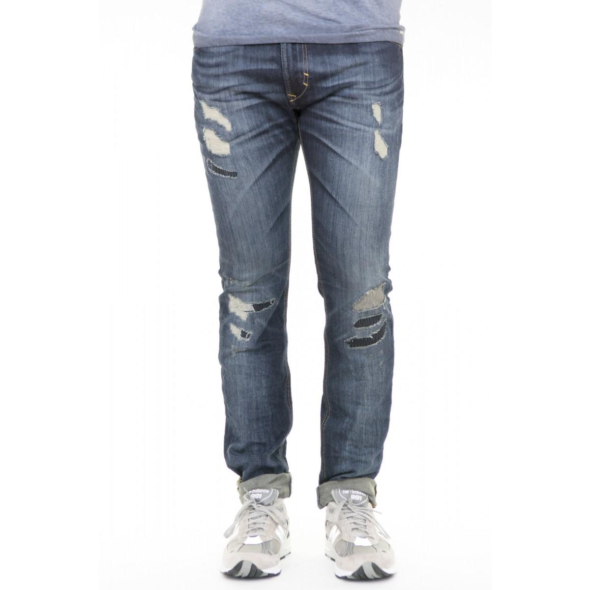 Jeans Diesel - Thavar slim rotture