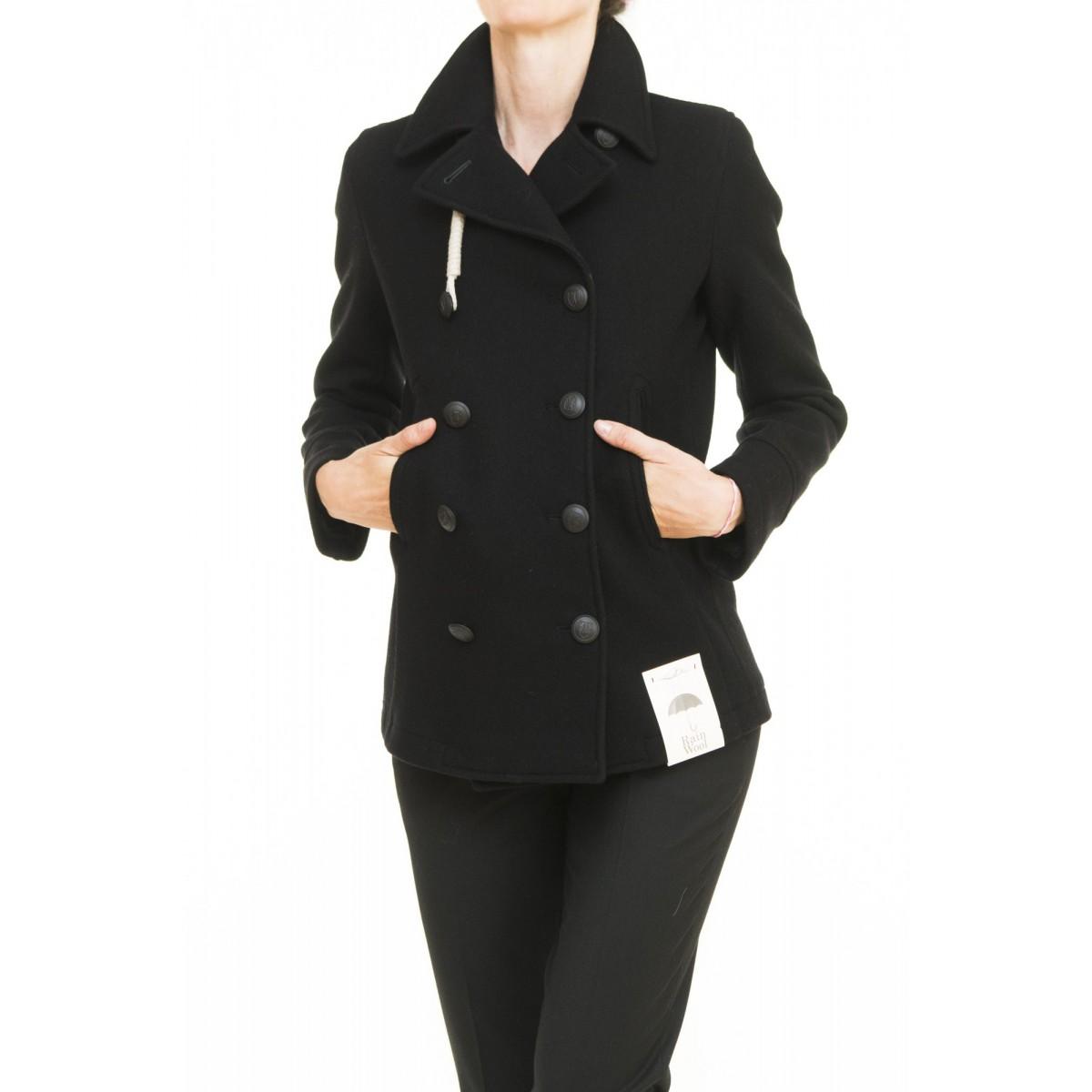 Cappotto Camplin - Miss navy picot shettland lana idrorepellente