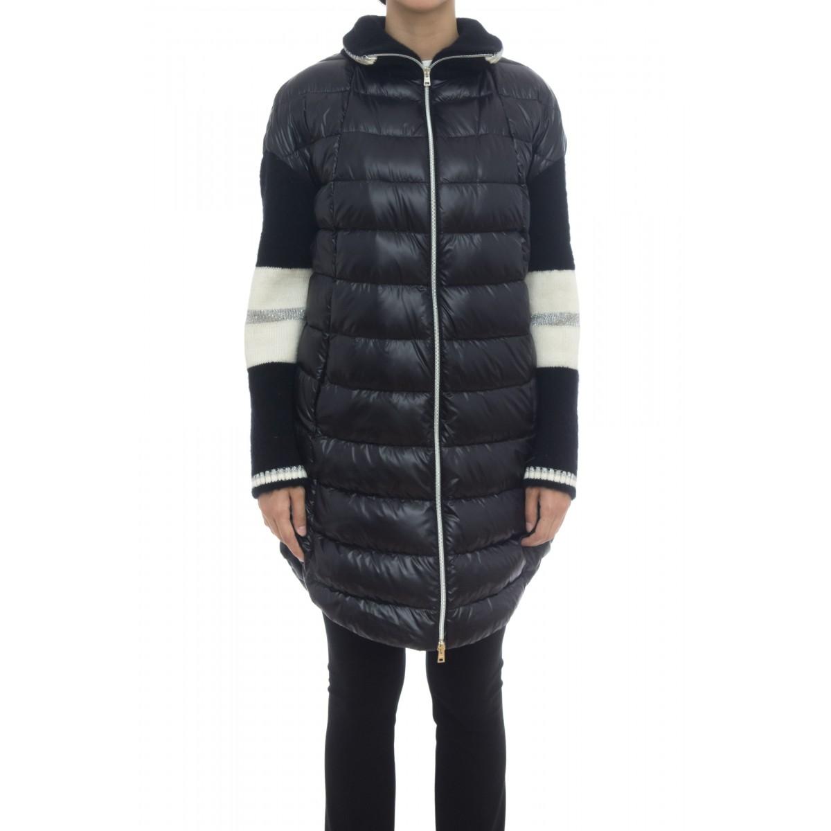 Piumino - PI021DR 12017 nylon ultralight con maniche in lana