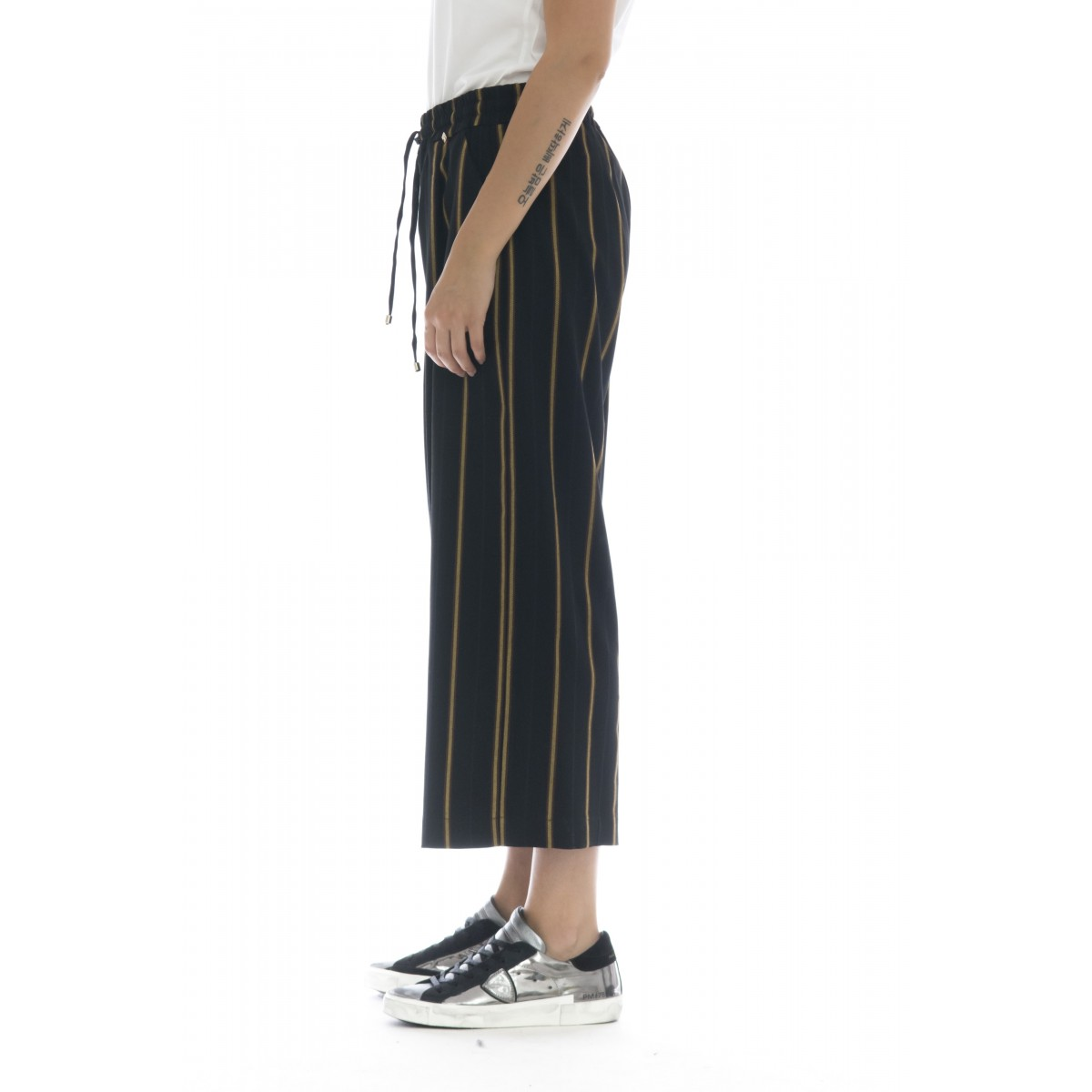Pantalone donna - Giji pantalone rigato largo