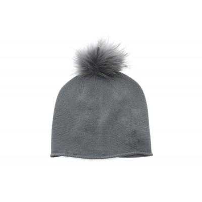 Berretto - 8600/25 berretto misto cashmeire con ponpon