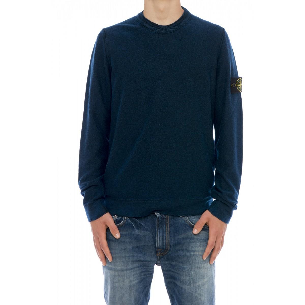 Maglia uomo Stone island - 561d4 maglia lana trattamento shot