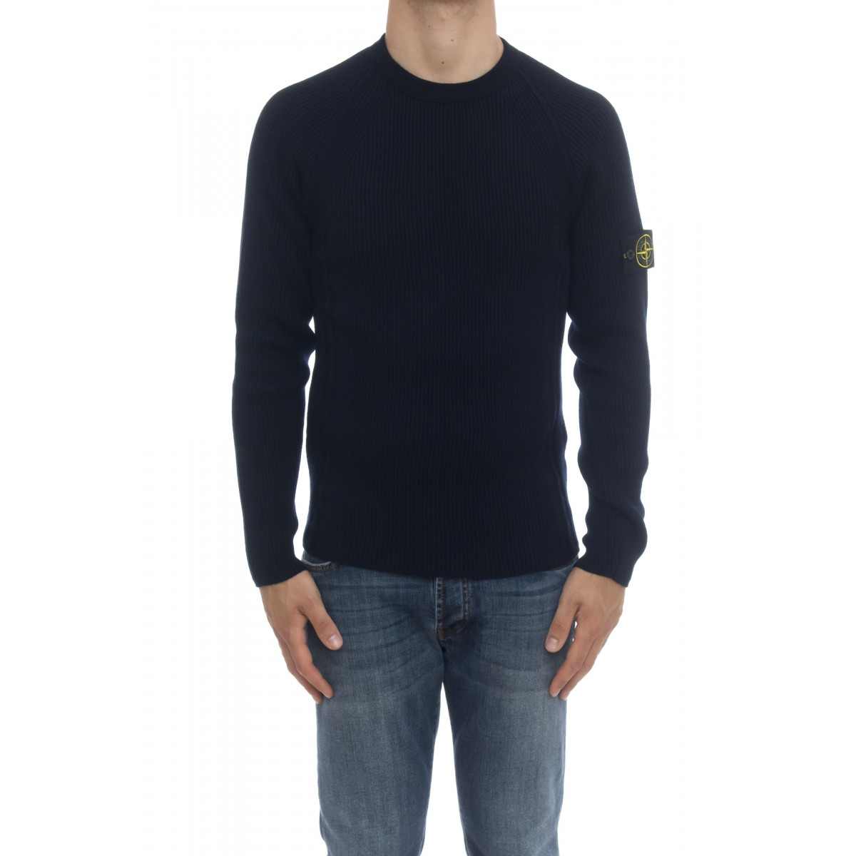 Crewneck - 516C2 Knit in full ribbed light wool